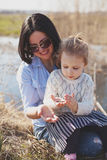 Mother and daughter spending time together outside Royalty Free Stock Image