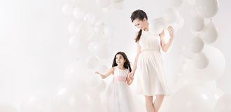 Mother and daughter spending together their leisure time Royalty Free Stock Photo