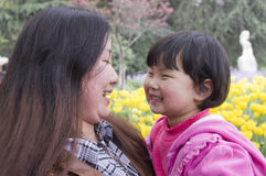 Mother and Daughter in a spring day Royalty Free Stock Photos