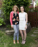 Mother and daughter before 1st Dance Royalty Free Stock Photography