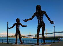 Mother and Daughter Statues. Stock Image