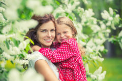Mother and daughter in summer park Royalty Free Stock Images