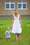 Mother with daughter in summer park Royalty Free Stock Photography