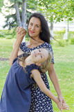 Mother and daughter in summer Royalty Free Stock Images