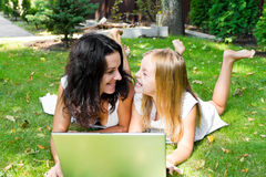 Mother and daughter in summer Royalty Free Stock Photography