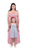 Mother and daughter in sundresses Stock Image