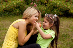 Mother and Daughter in a sunny day Stock Photography