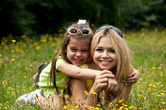 Mother and Daughter in a sunny day Royalty Free Stock Image