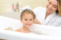 Mother and daughter taking bath Royalty Free Stock Photography