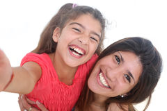 Mother and daughter taking self portrait Royalty Free Stock Photo