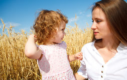 Mother and daughter talking Stock Photography