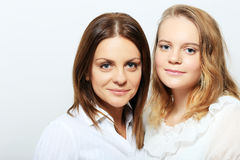 Mother and daughter. Mother and teen daughter portrait Stock Photo