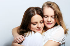 Mother and daughter. Mother and teen daughter portrait Royalty Free Stock Photography