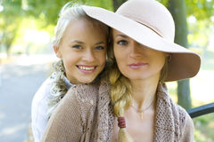 Mother and daughter teenager Stock Photography
