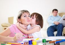 Mother and daughter together Stock Photos