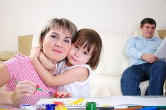 Mother and daughter together Royalty Free Stock Photography