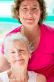 Mother and Daughter Together Stock Image