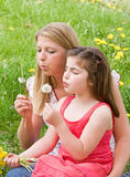 Mother and Daughter Together Stock Photo