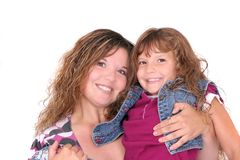 Mother and daughter together Royalty Free Stock Image