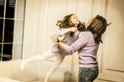 Mother and daughter together Royalty Free Stock Images
