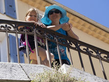 Mother and daughter tourists in Cannes Royalty Free Stock Photos