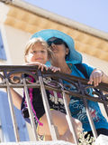Mother and daughter tourists in Cannes Stock Photos
