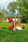 Mother and daughter - training Royalty Free Stock Photo
