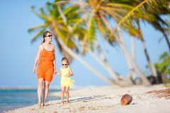 Mother and daughter on tropical vacation Royalty Free Stock Image