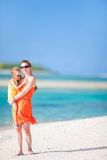 Mother and daughter on a tropical vacation Royalty Free Stock Images