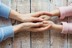 Mother and daughter. Unrecognizable mother and her daughter holding hands Royalty Free Stock Photos