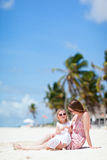 Mother and daughter on vacation Royalty Free Stock Photo