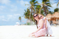 Mother and daughter on vacation Royalty Free Stock Images
