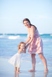 Mother and daughter on vacation Stock Photo