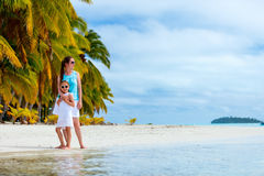 Mother and daughter on vacation Stock Photography