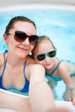 Mother and daughter on vacation Royalty Free Stock Photos