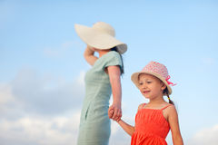 Mother and daughter on vacation Royalty Free Stock Photography