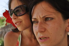 Mother and daughter. Vacation in the tropics. Tunisia, traveling. Stock Photography