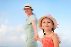 Mother and daughter on vacation Royalty Free Stock Image