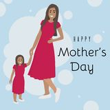 Mother with daughter vector illustration. royalty free illustration
