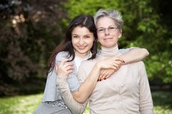 Mother and daughter on the walk Royalty Free Stock Photo