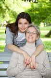 Mother and daughter on the walk Stock Photography