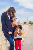 Mother daughter on  walk Stock Photography