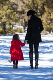 Mother and Daughter Walking Stock Photography