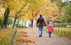Mother and daughter walking together Royalty Free Stock Photo