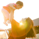 Mother and daughter. Mother and daughter in the warm light of the sun Royalty Free Stock Photo