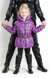 Mother and daughter wearing jackets Stock Photography