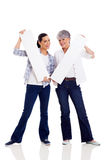 Mother daughter white boards Royalty Free Stock Images