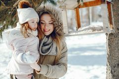 Mother with daughter stock photography