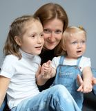 Mother with daughters Royalty Free Stock Photo