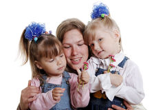 Mother and daughters. royalty free stock images